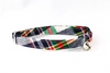 Preppy Navy Blue Madras Bow Tie Kitty Cat Collar