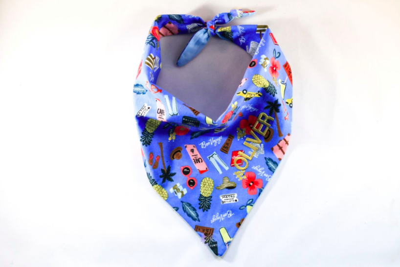 The Jet Setter Travel Pup Monogrammed Dog Bandana