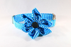 Carolina Panthers Blue and Black Girl Dog Flower Bow Tie Collar