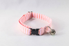 Preppy Pink and Orange Sherbet Seersucker Kitty Cat Collar