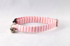 Preppy Pink and Orange Sherbet Seersucker Bow Tie Kitty Cat Collar