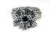Classic Black and White Houndstooth Girl Dog Flower Bow Tie Collar