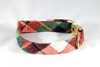 Fall Harvest Plaid Dog Bow Tie Collar