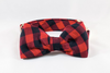 Preppy Pup Buffalo Check Plaid Bow Tie Dog Collar
