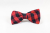 Buffalo Check Plaid Dog Bow Tie