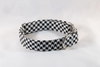 Classic Red Black and White Houndstooth Dog Bow Tie Collar