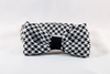 Classic Black and White Houndstooth Dog Bow Tie Collar