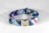 Classic Blue and Green Flannel Plaid Dog Bow Tie Collar