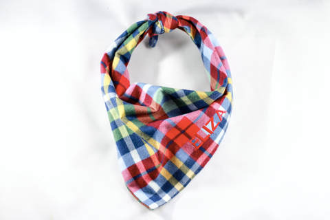 The Perfect Fall Plaid Monogrammed Dog Bandana