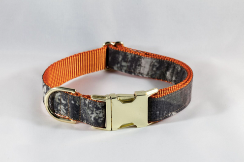 The Sporting Pup Orange Camo Dog Collar