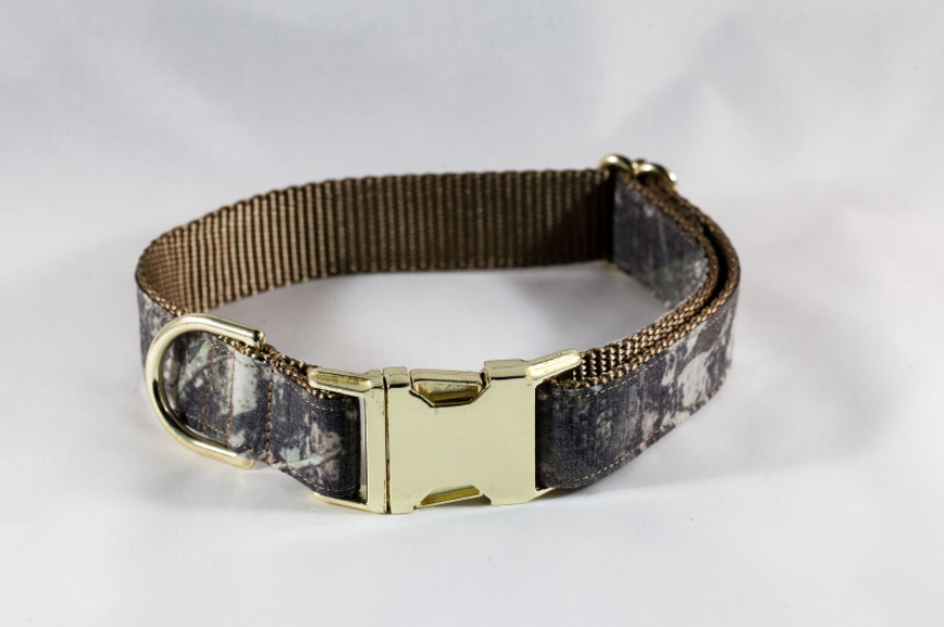 The Sporting Pup Brown Camo Dog Collar