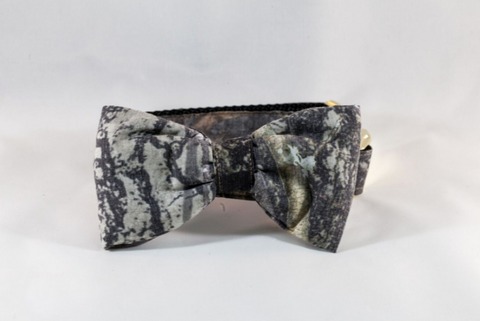 The Sporting Pup Camo Bow Tie Dog Collar--Classic Black