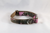 The Sporting Pup Pink Camo Bow Tie Dog Collar--Brown