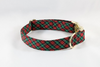 Classic Red and Green Christmas Plaid Dog Collar