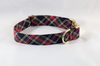 Classic Black and Red Tartan Plaid Girl Dog Flower Bow Tie Collar