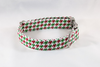 Green and Red Christmas Houndstooth Dog Bow Tie Collar