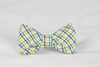 Mardi Gras Gingham Dog Bow Tie