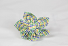 Preppy Mardi Gras Gingham Girl Dog Flower Bow Tie Collar