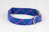 Limited Edition Preppy Blue and Magenta Plaid Dog Bow Tie Collar