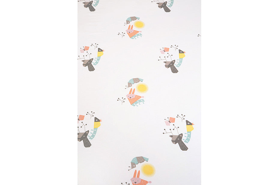 NURSERY WORKS MENAGERIE ORGANIC COTTON PERCALE SHEET