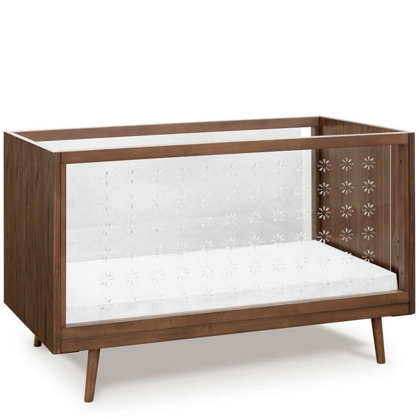UBABUB NIFTY CLEAR 3-IN-1 CRIB IN WALNUT