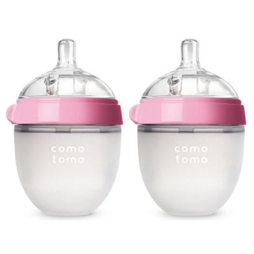 COMOTOMO BABY BOTTLE 5OZ PINK DOUBLE PACK