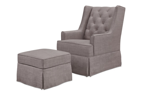 MILLION DOLLAR BABY SADIE SWIVEL GLIDER WITH STORAGE OTTOMAN