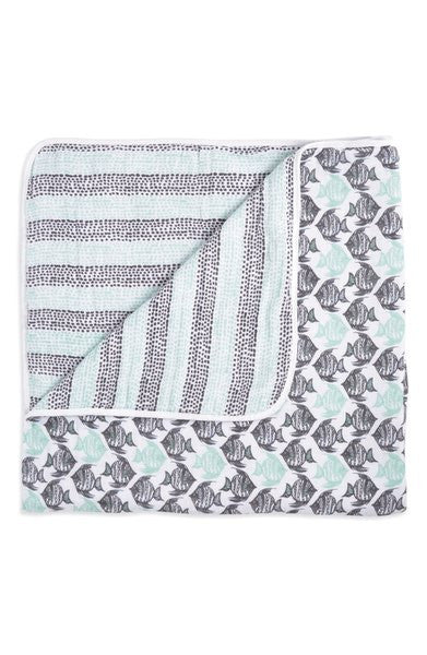 ADEN & ANAIS CLASSIC DREAM BLANKET - SEASIDE