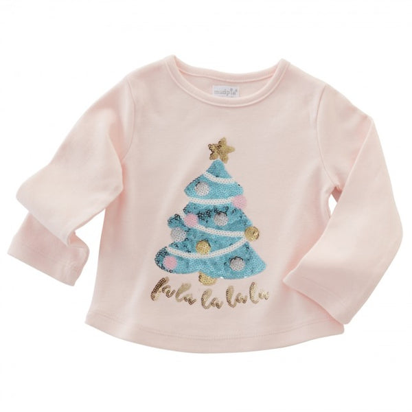 FA LA LA TREE DAZZLE TEE BY MUD PIE