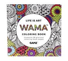 WAMA LIFE IS ART COLORING BOOK