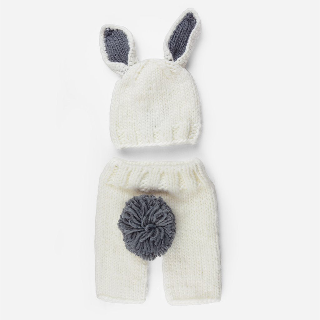 c9d2e844eaf45 BLUEBERRY HILL - BAILEY BUNNY KNIT NEWBORN SET - WHITE GREY ...