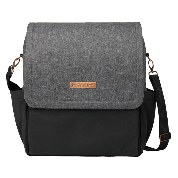 GRAPHITE AND BLACK  BOXY BACKPACK