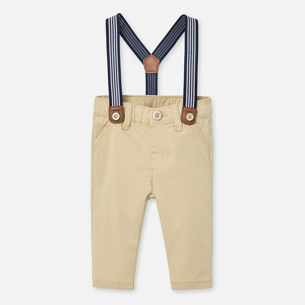 TAN TROUSERS WITH SUSPENDERS