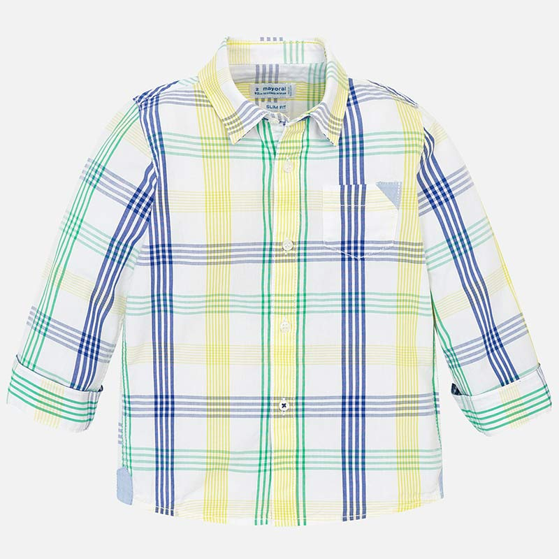 MAYORAL LONG SLEEVED CHECKED SHIRT