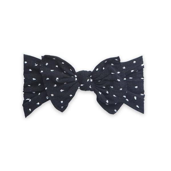 BABY BLING BOWS PATTERNED KNOT - SHABBY BLACK DOT