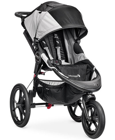 BABY JOGGER SUMMIT X3 SINGLE STROLLER - BLACK AND GRAY