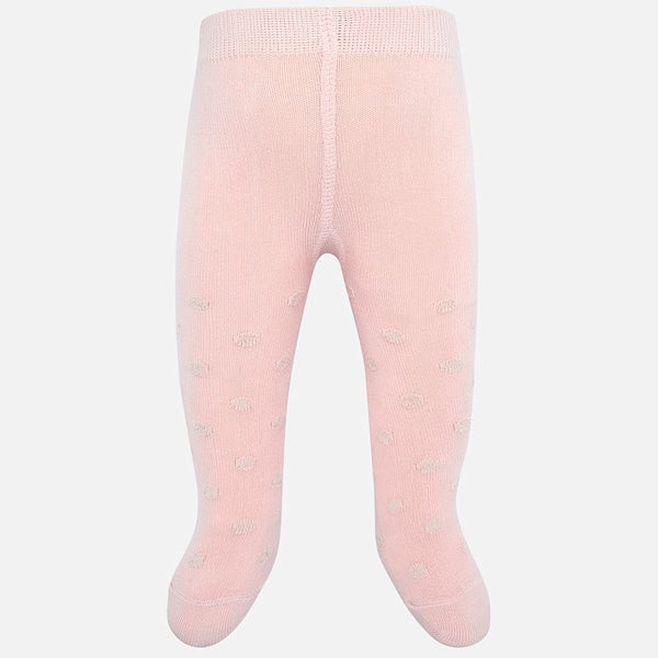 JACQUARD TIGHTS IN BLUSH