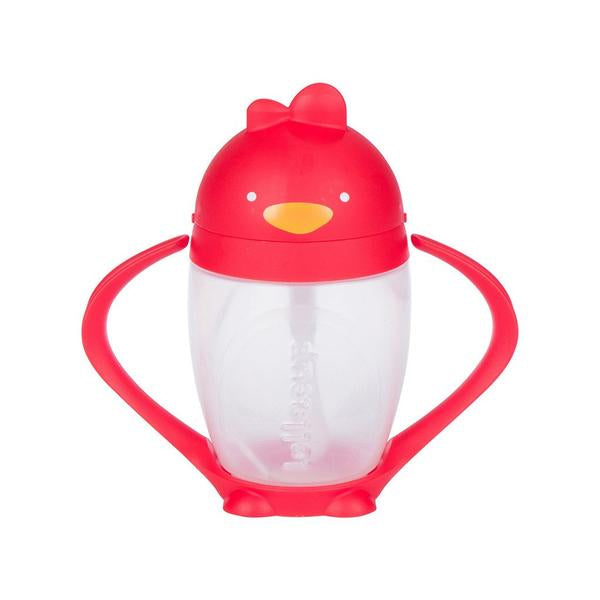 LOLLACUP STRAW SIPPY CUP - BOLD RED