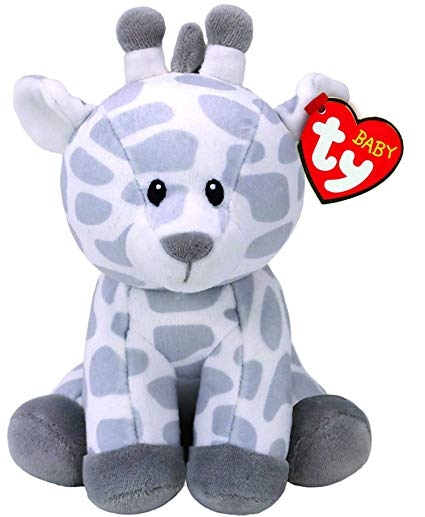 TY BEANIE GRACIE GREY AND WHITE GIRAFFE