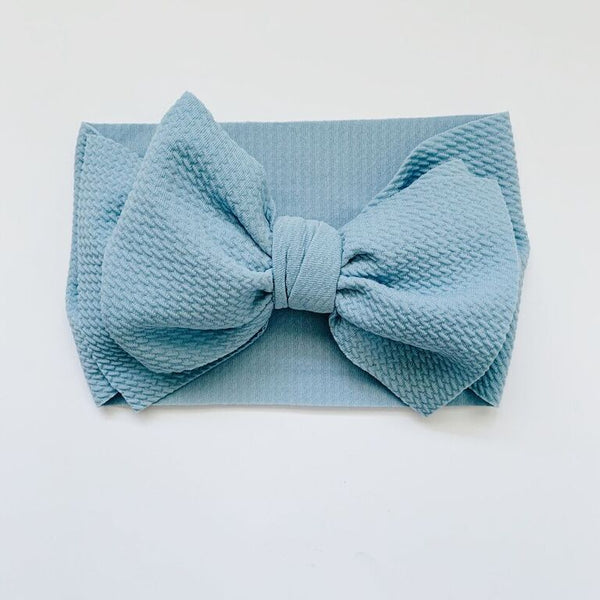 SUGAR + MAPLE BABY HEADWRAP - LIGHT BLUE