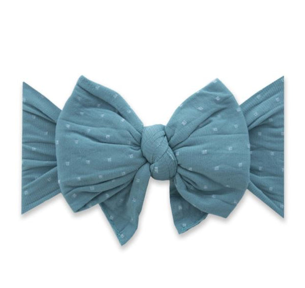 BABY BLING DANG ENORMOUS BOW : TEAL DOT