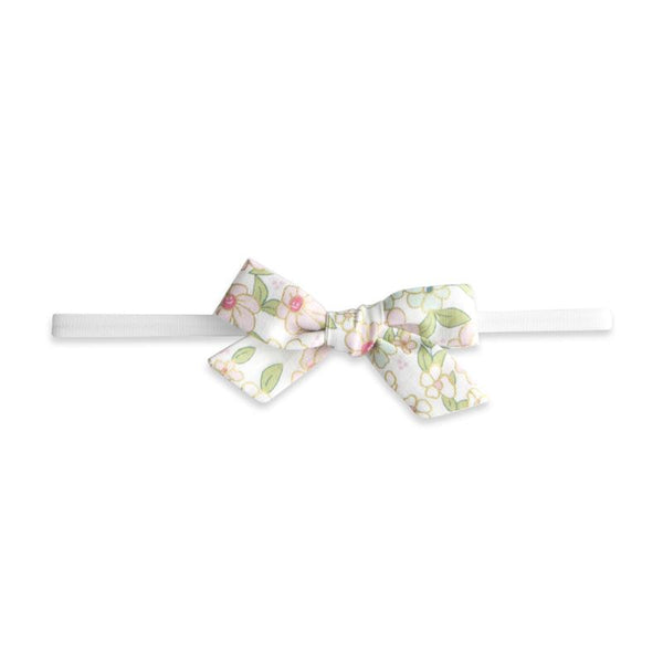 BABY BLING COTTON PRINT BOW: PINK FLORAL