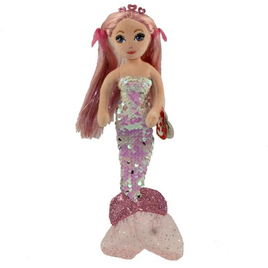TY FLIPPABLES SEA SEQUIN MERMAID PINK CORA REGULAR