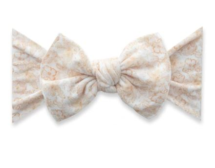 BABY BLING PRINTED KNOT: PRETTY IN PEACH