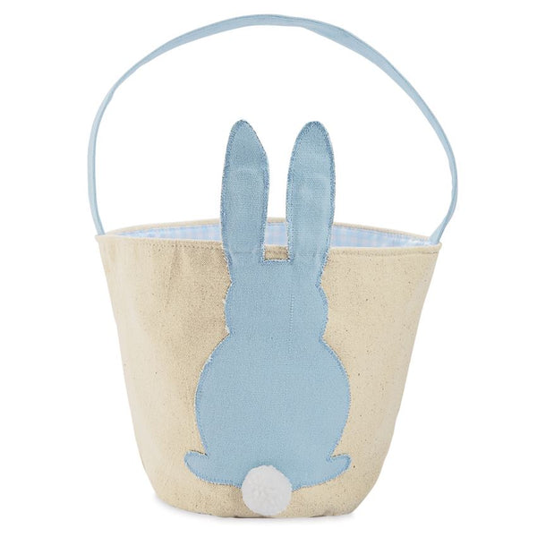 BLUE CANVAS BUNNY BASKET