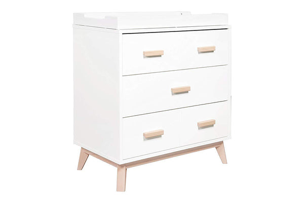 BABYLETTO - SCOOT 3-DRAWER CHANGER DRESSER WITH REMOVABLE CHANGING TRAY