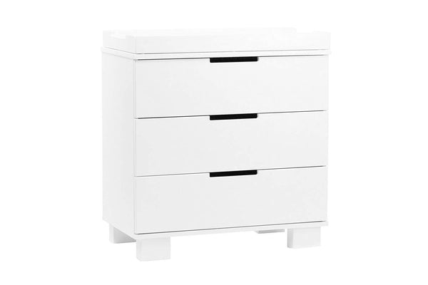 BABYLETTO - MODO 3-DRAWER CHANGER DRESSER WITH REMOVABLE CHANGING TRAY