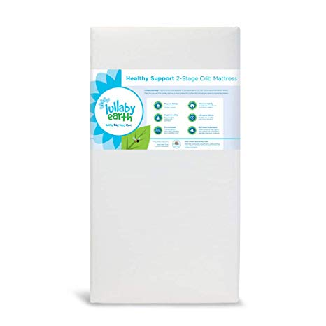 NATUREPEDIC LULLABY EARTH HEALTHY SUPPORT CRIB MATTRESS 2-STAGE