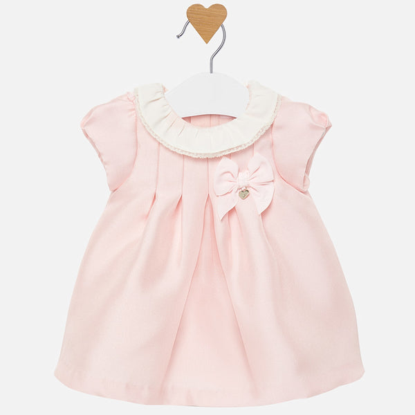 MAYORAL TWILL DRESS NEWBORN BABY GIRL PINK