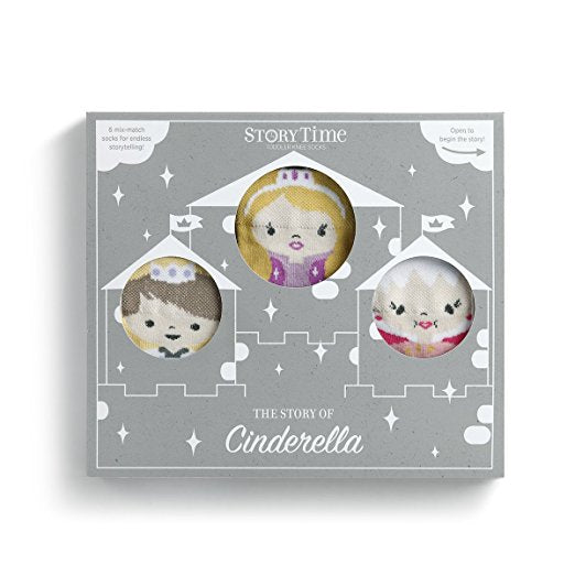 STORY TIME SOCKS - CINDERELLA SET OF 6